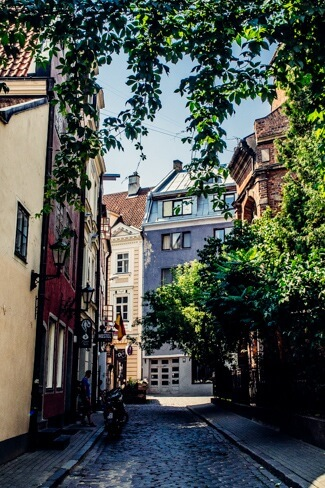 One of Riga's Cute Side Streets