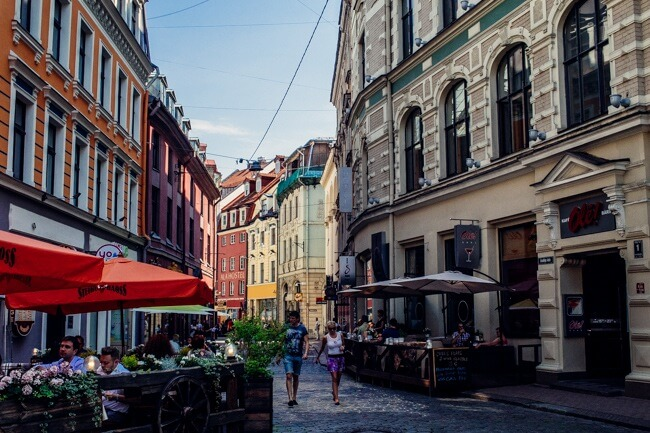 Walking Riga's Cobblestone Streets