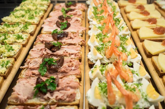 Open Faced Sandwiches in Prague