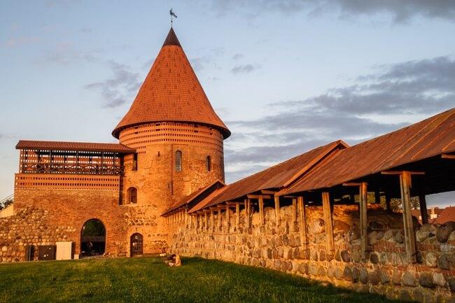 Kaunas Castle at Sunset