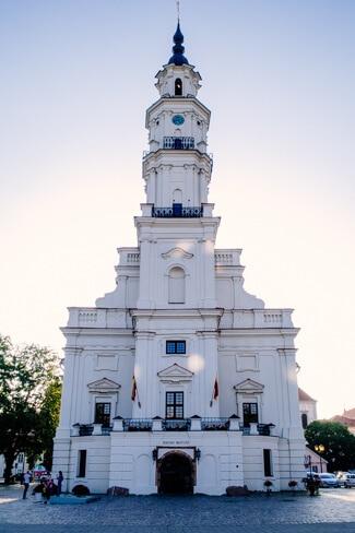 Kaunas Town Hall at Dusk