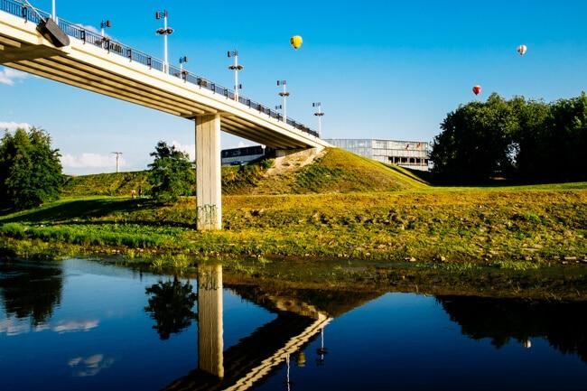 Hot Air Balloons over Nemanus River Kaunas