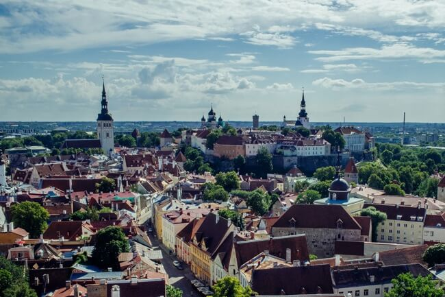 Toompea from St Olaf's Church