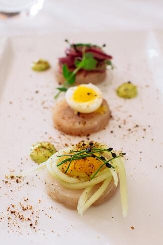 Seafood Bites at Eight Legs Restaurant