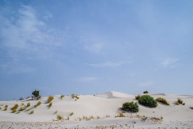 Incredible White Sand Dune Beach in Sardinia