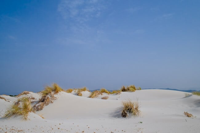 White Sands dunes in Sardinia