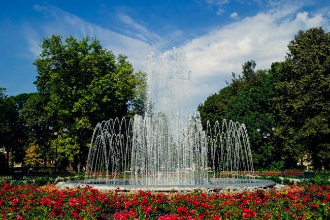 Fountain in Bernardine Gardens Vilnius