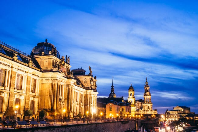 Dresden's Skyline at Sunset