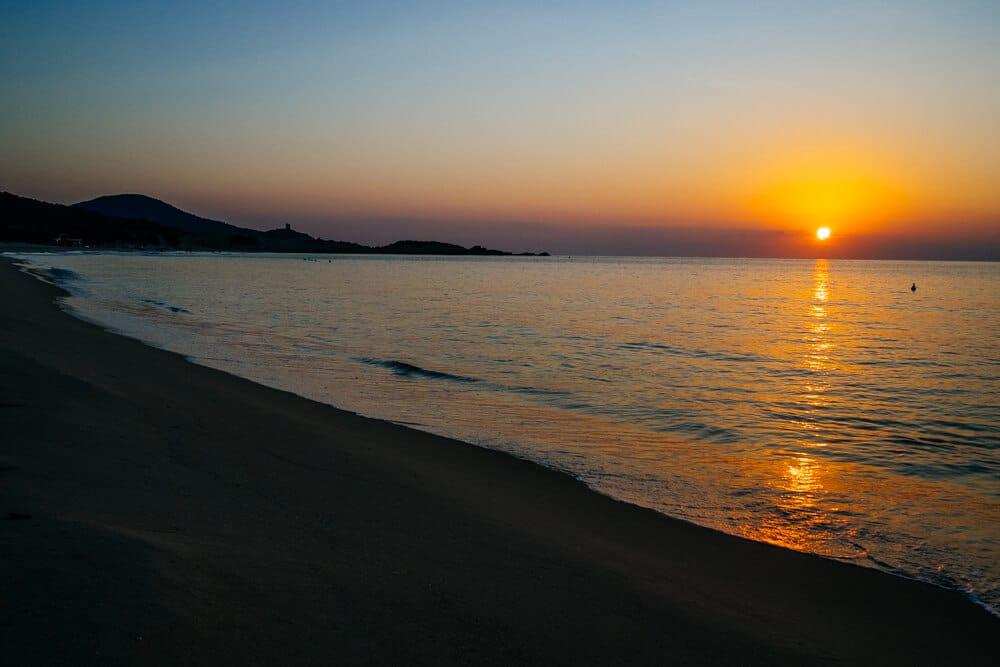 Sunrise in Southern Sardinia