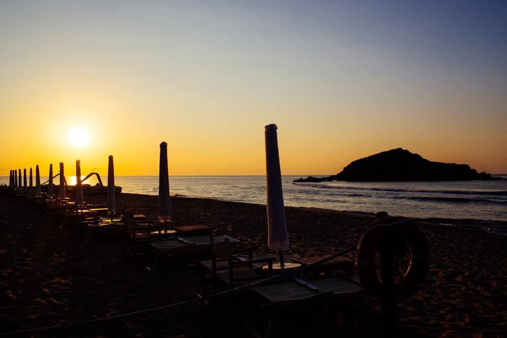 Chia Beach and Island Sunrise