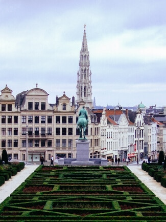 Brussels can be pretty but it's always cloudy.