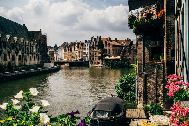 Ghent is so much prettier than Bruges.