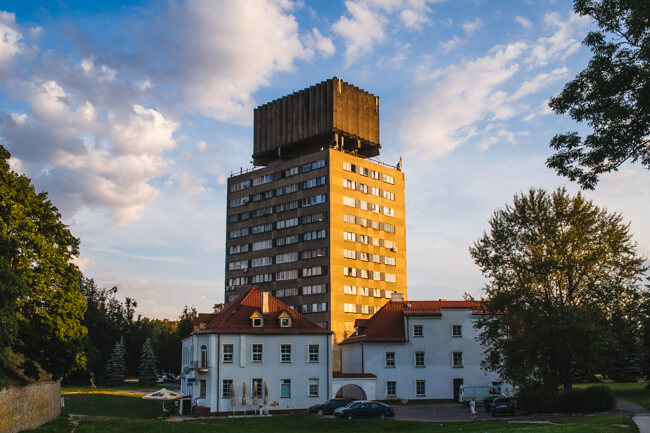 Love this crazy looking building in Narva.