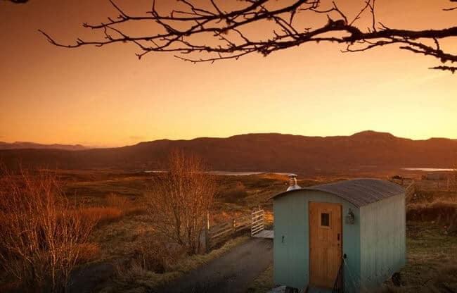 Stay in a Shepherd Hut via Airbnb