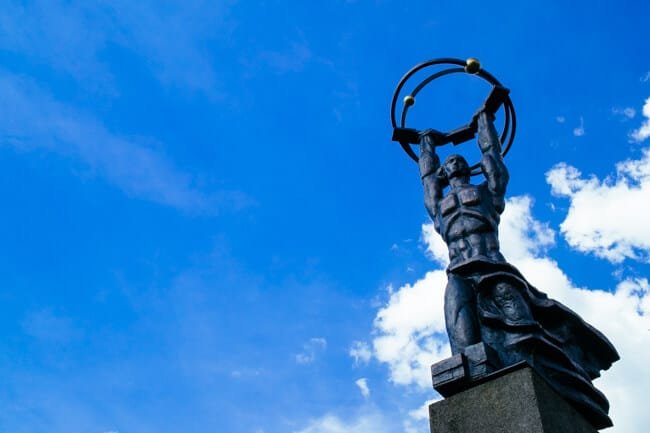 Soviet Statue in Sillamae