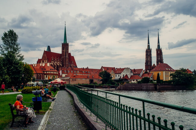 Wroclaw's Skyline of Church Spires
