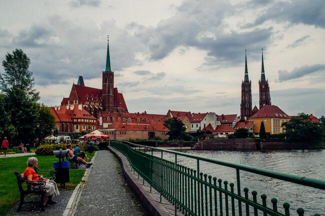 Wroclaw's Skyline of Church Spires