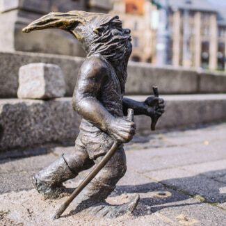 Hiking Gnome in Wroclaw