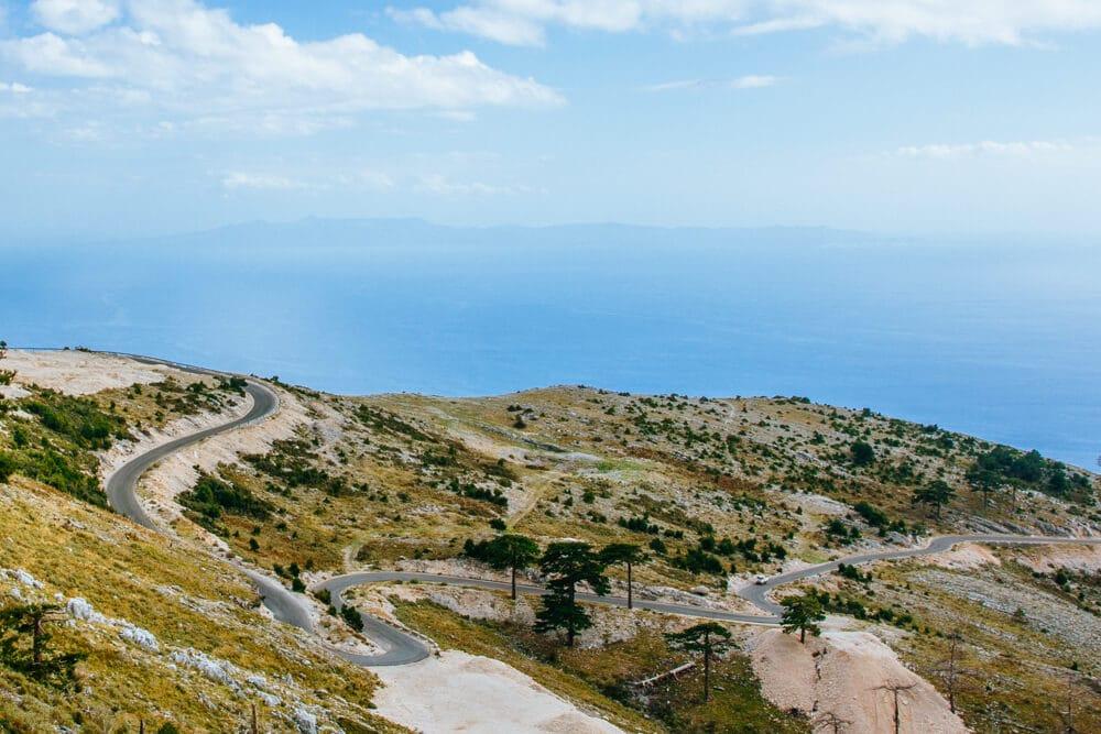 Winding Road on the Llogara Pass