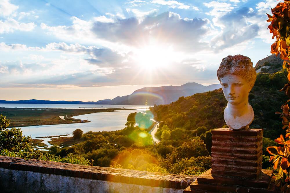 Butrint at Sunset and Corfu Island (Greece)