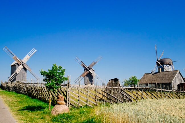 Angla Windmills in Estonia