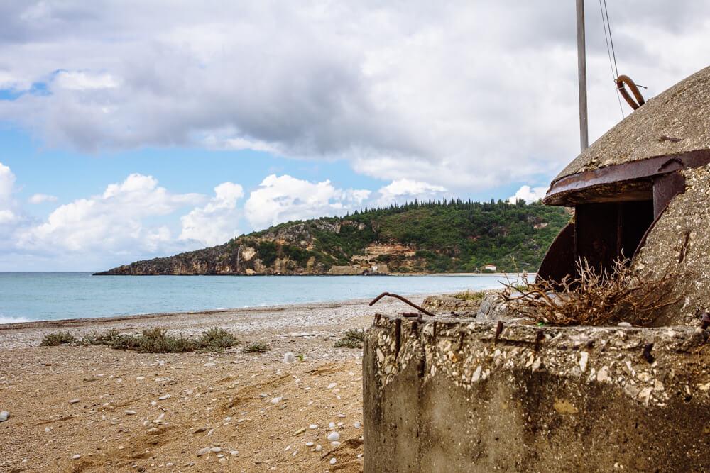 Bunker on the Beach in Himara