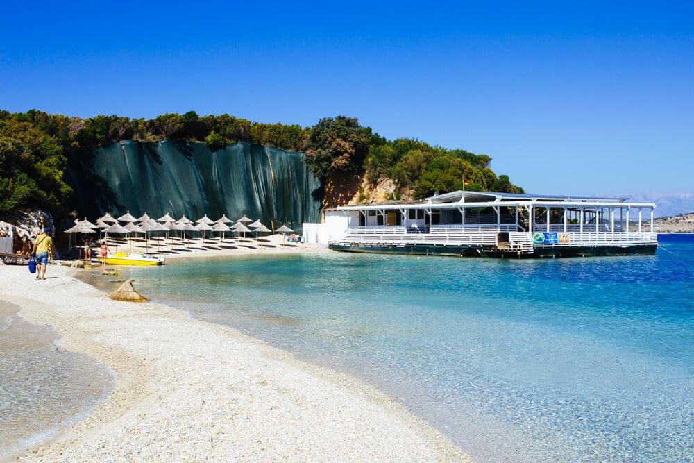 Ksamil Island at the End of the Tourist Season