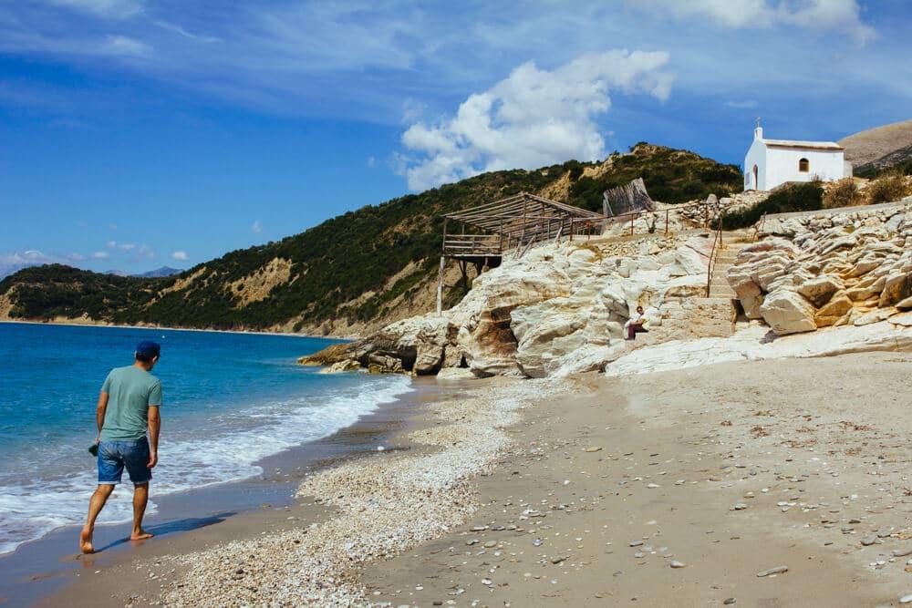 Lukova Beach in Southern Albania