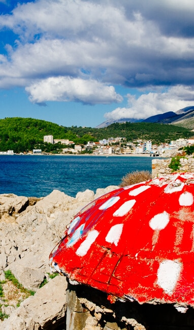 Painted Bunker in Albania