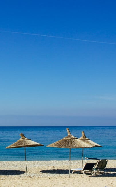 Himara Beach in Southern Albania