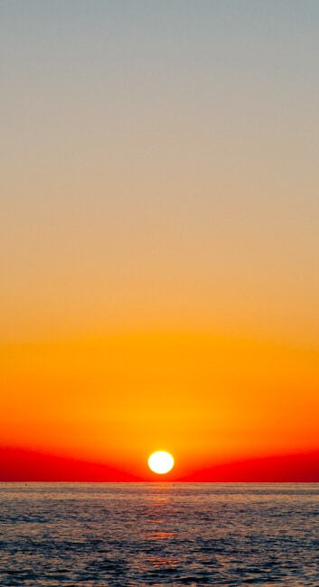 Sunset in Himara on the Albanian Riviera