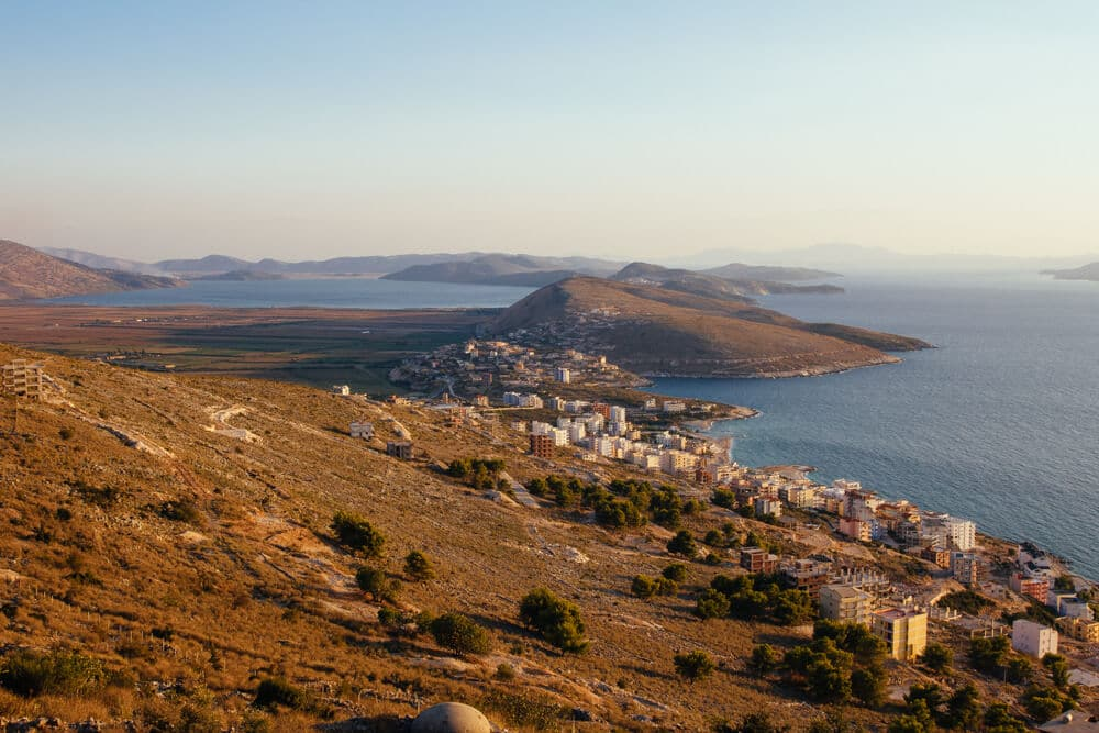 Southern Saranda with Ksamil and Greece in the Distance