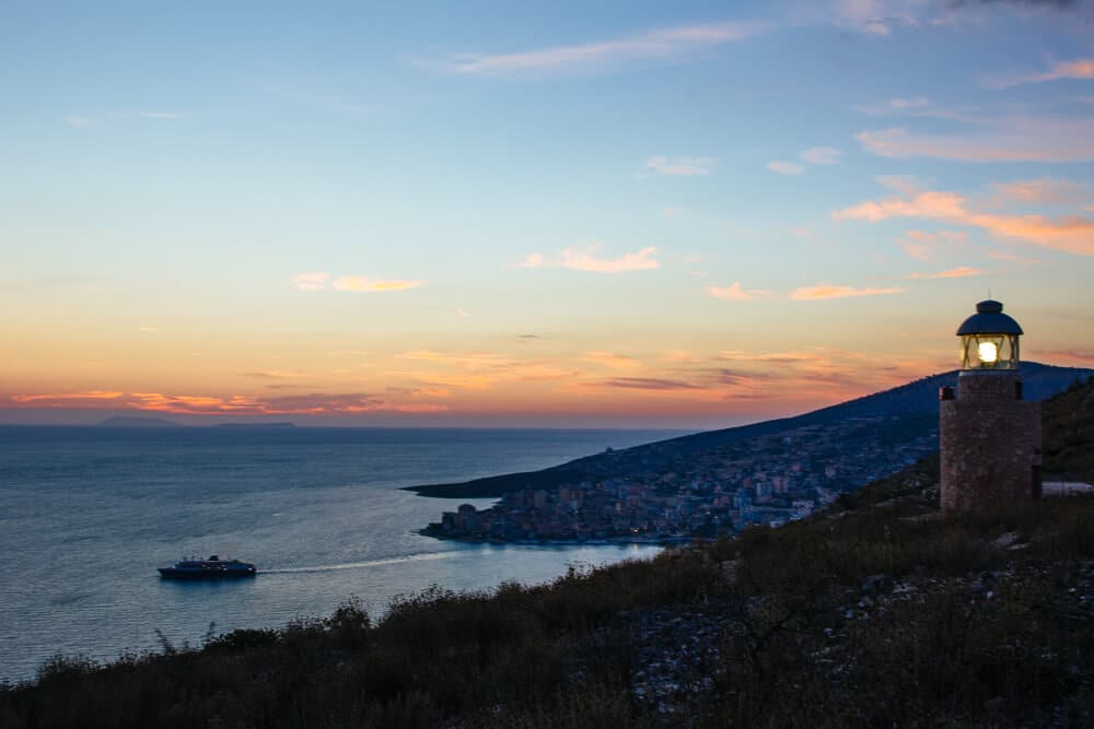 Sunset from Saranda's Castle
