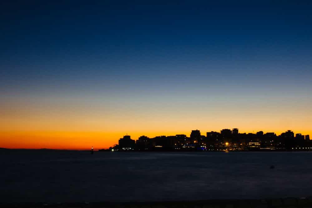 Sunset Over the City of Saranda