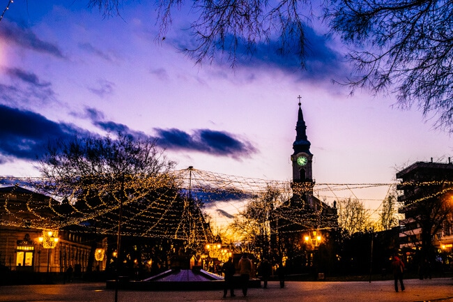 Sunset Over the Christmas Markets
