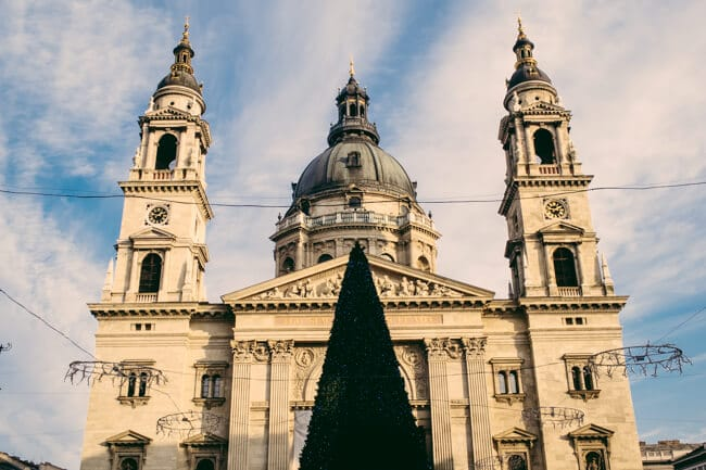 St Stephen's Basilica and Christmas Tree