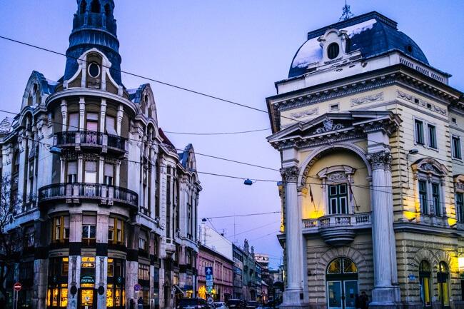 Pretty Architecture on Szechenyi Square