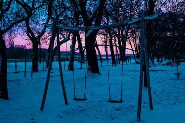 Pink and Blue Sunset in Szeged