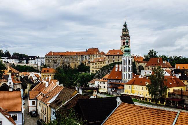 Cesky Krumlov Castle & Vltava River