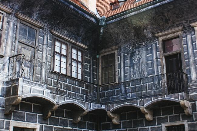 Detail on the Castle Buildings