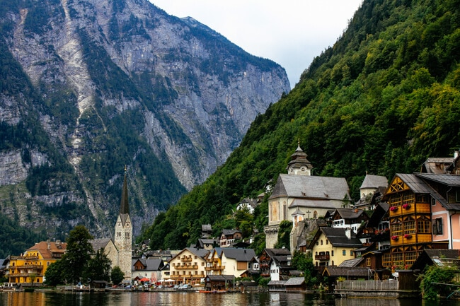 Hallstatt on the Lake in Austria