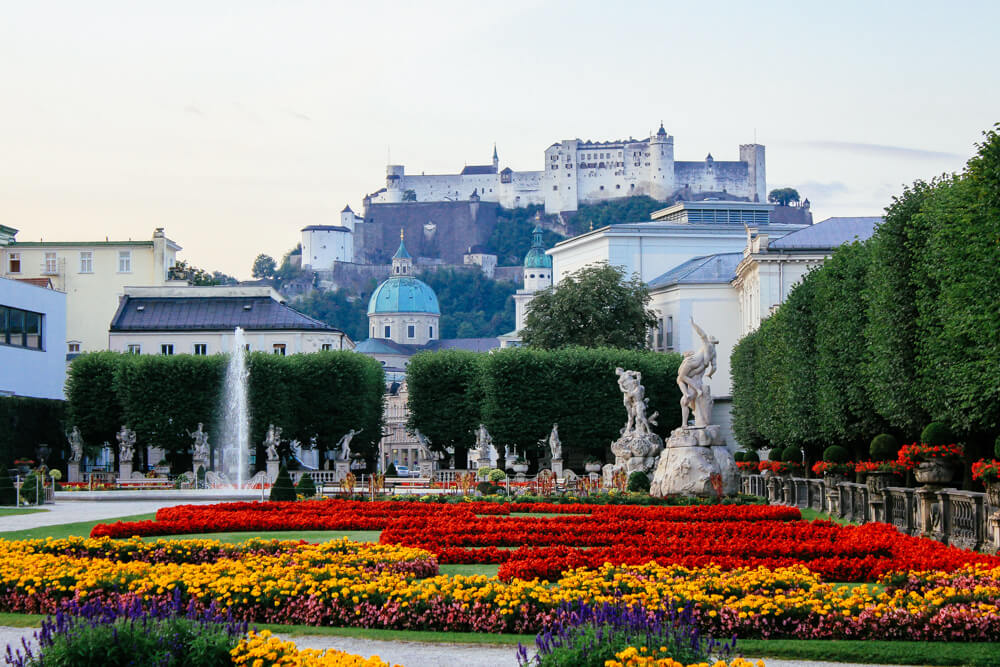 Salzburg from Mirabell Palace Gardens
