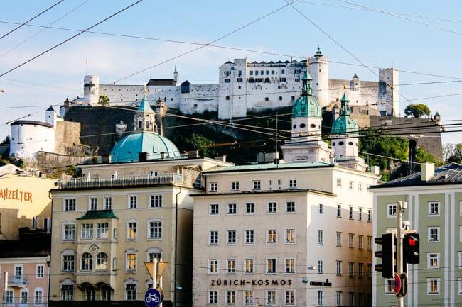Arriving in Salzburg, Austria