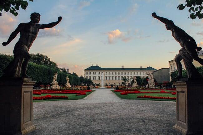 Statues Guarding Mirabell Palace