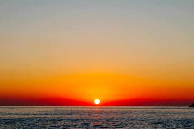 Himara Beach Sunset