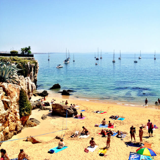 Cute Cascais Beach in Portugal