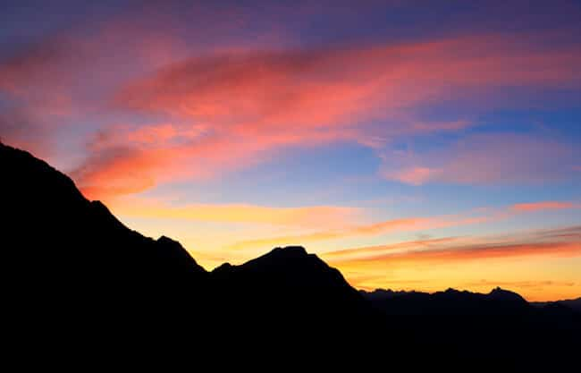 Sunrise near Innsbruck