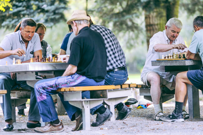 Chess in the park.