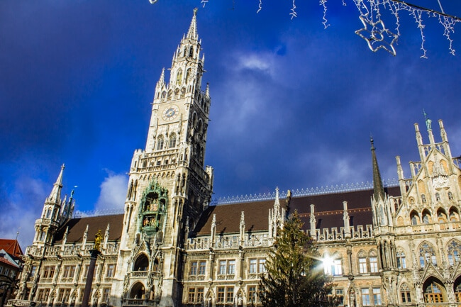 Munich's Marienplatz at Christmas