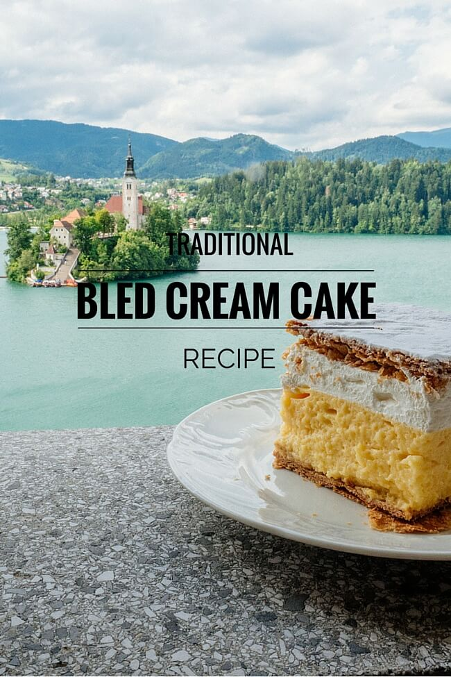 Bled Cream Cake by the Lake